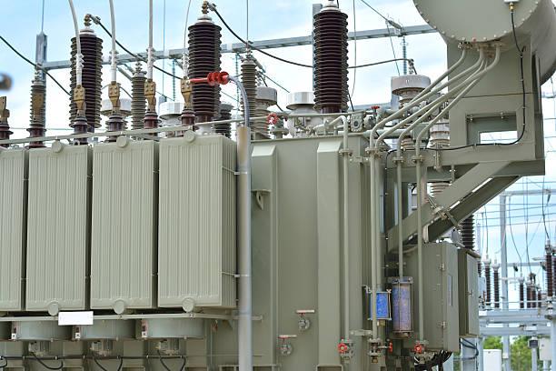 Electrical Transformer. High-Voltage Transformer, Low-Voltage Transformer